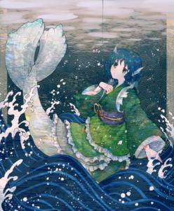 Rating: Safe Score: 0 Tags: wakasagi_hime わかさぎ姫 blue_hair blue_eyes User: tvkdm